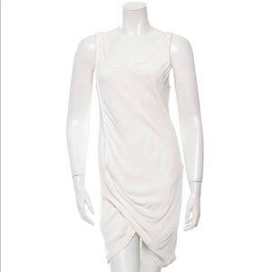 White Ivory Cream Crepe Mini Short Cocktail Dress